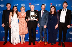 Lennytheshark's connections celebrate his Victorian Horse of the Year award.